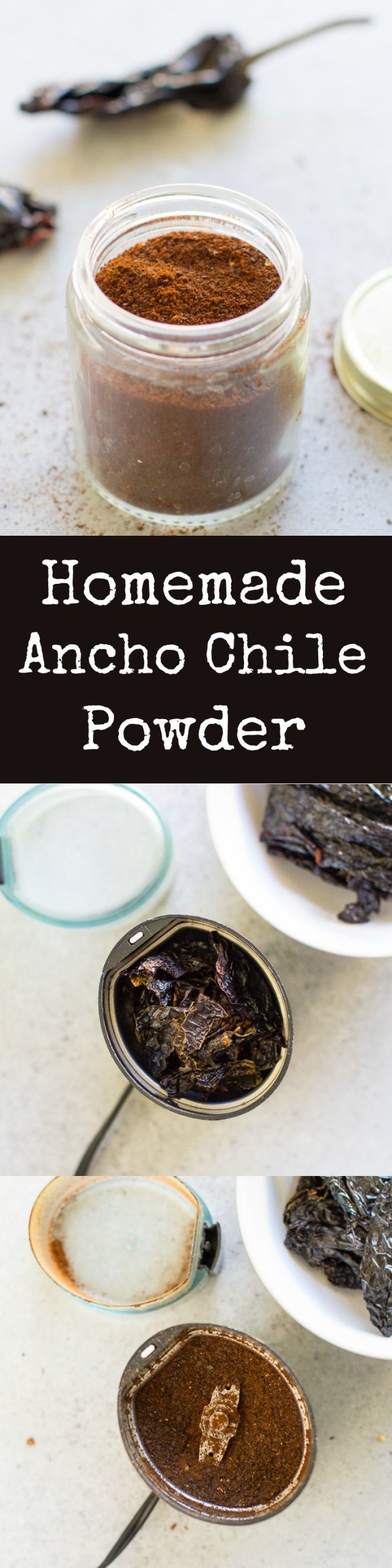 Homemade Ancho Chile Powder is DIRT CHEAP when you make it at home - just one ingredient! Add it to soups, salad dressings, and chicken for a spicy heat.