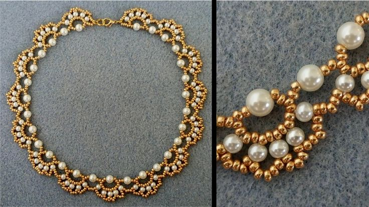 Arc-necklace ~ Seed Bead Tutorials