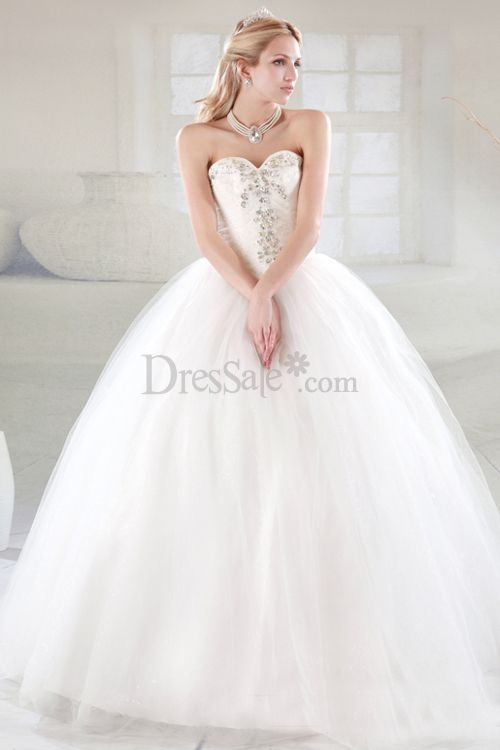 Crystal Sweetheart Busty Modern Bubble Wedding Dress.shape