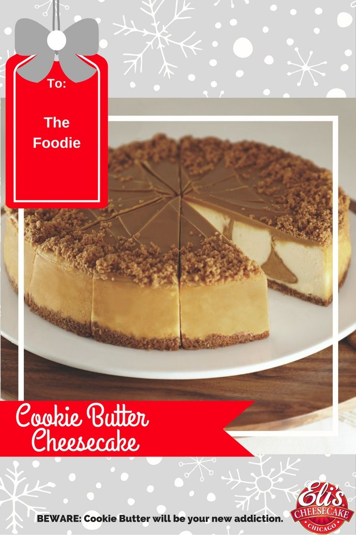Cookie Butter is the latest crave in the foodie world. It's a must!  #cookiebutter #cheesecake #cookiebuttercheesecake #holidays #dessert