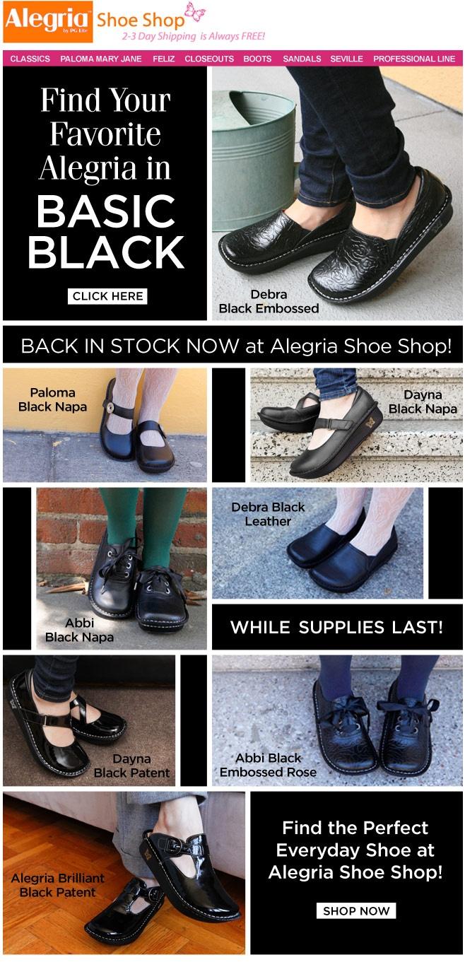 Find you favorite Alegria in Basic Black--In stock now! | Alegria Shoe. Alegria  ShoesSchool ...