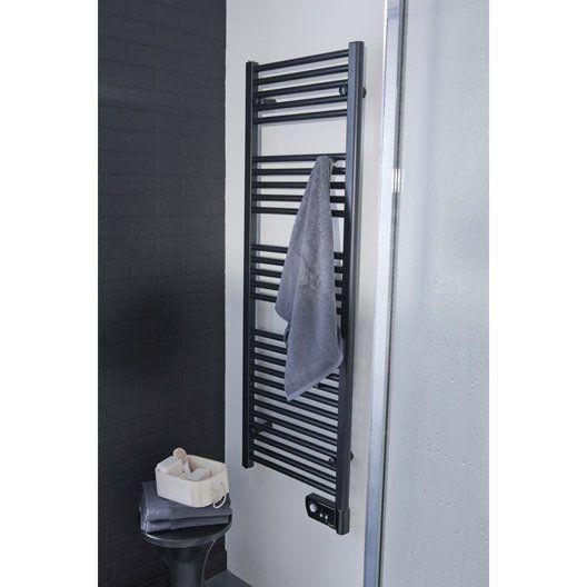 Sèche-serviettes électrique à inertie fluide SAUTER Seville 750W