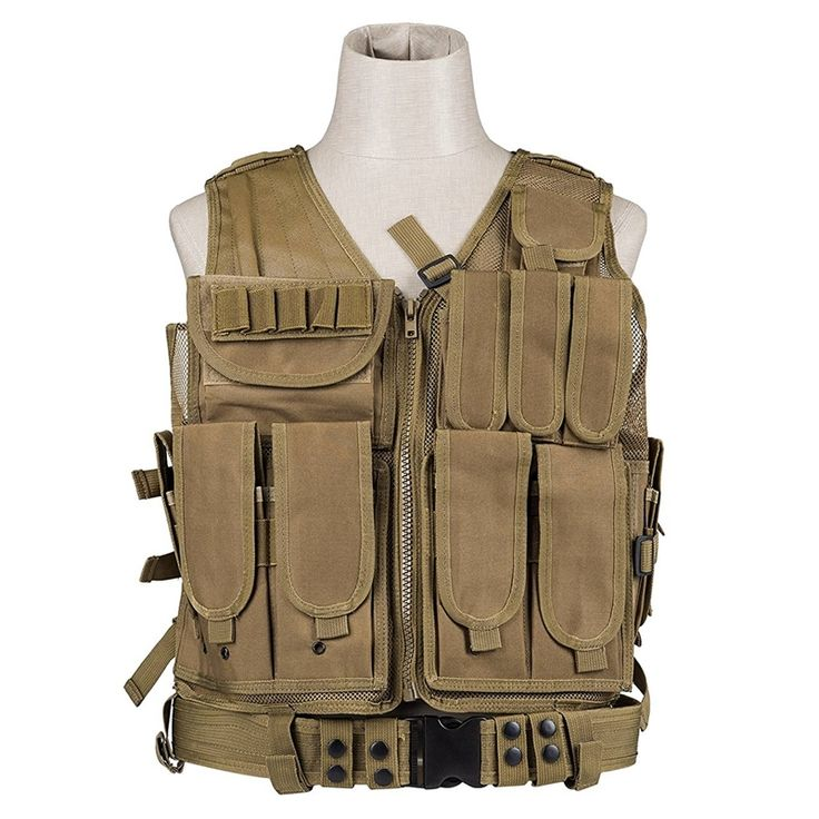 39.25$  Buy now - http://ali5g4.shopchina.info/1/go.php?t=32816002962 - New Police Military Tactical Vest Wargame Body Armor Sports Wear Molle Assault Airsoft Paintball Carrier Strike Vest W/ Holster  #magazineonline