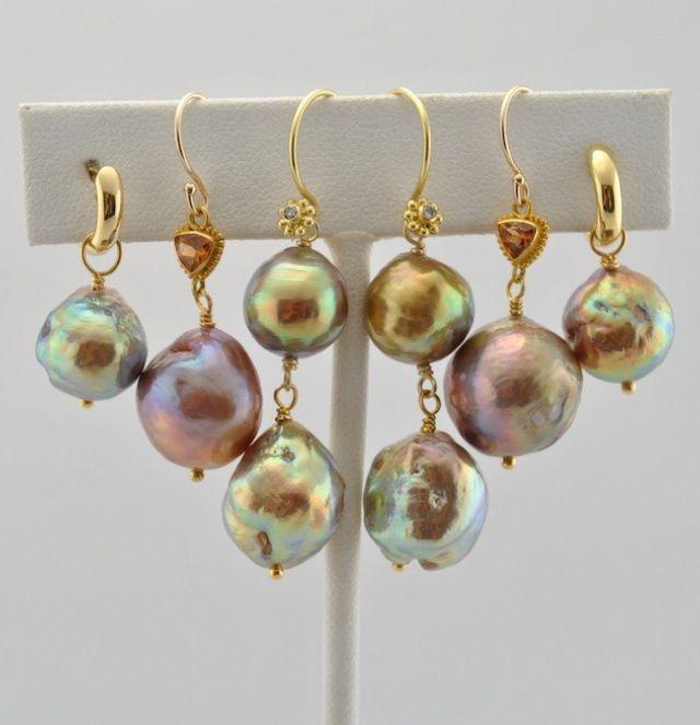 Japanese Kasumi Pearls as earrings