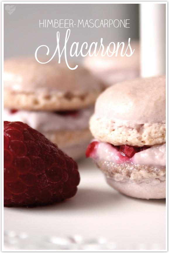 Himbeer-Mascarpone-Macarons