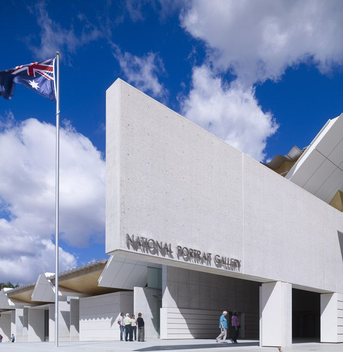 The National Portrait Gallery of Canberra is set in a beautiful building and is free to visit.