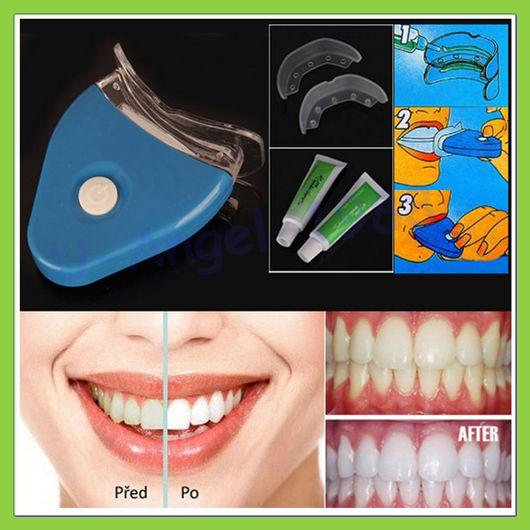 Conjunto de 1 dentes brancos branqueamento Gel branqueador saúde Oral Kit creme Dental para uso pessoal Dental Care saudável com luz alishoppbrasil