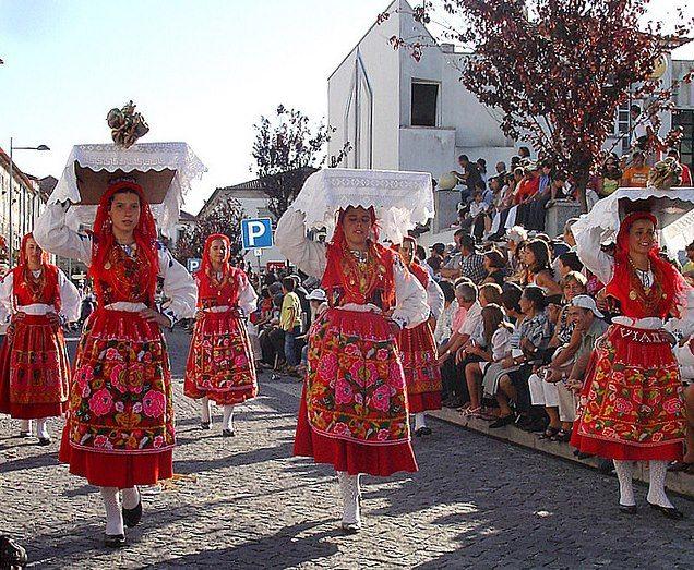 """PORTUGAL - Viana do Catelo (ancient Entre-Douro-e-Minho), ...festivities of """"Our Lady of Agony""""."""