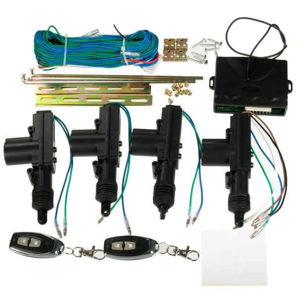 Car 2 or 4 Doors Central Lock Locking Keyless Entry System Kit & Remote Keys Fob  Worldwide delivery. Original best quality product for 70% of it's real price. Buying this product is extra profitable, because we have good production source. 1 day products dispatch from warehouse. Fast...