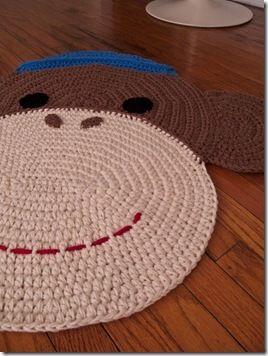 crochet monkey rug