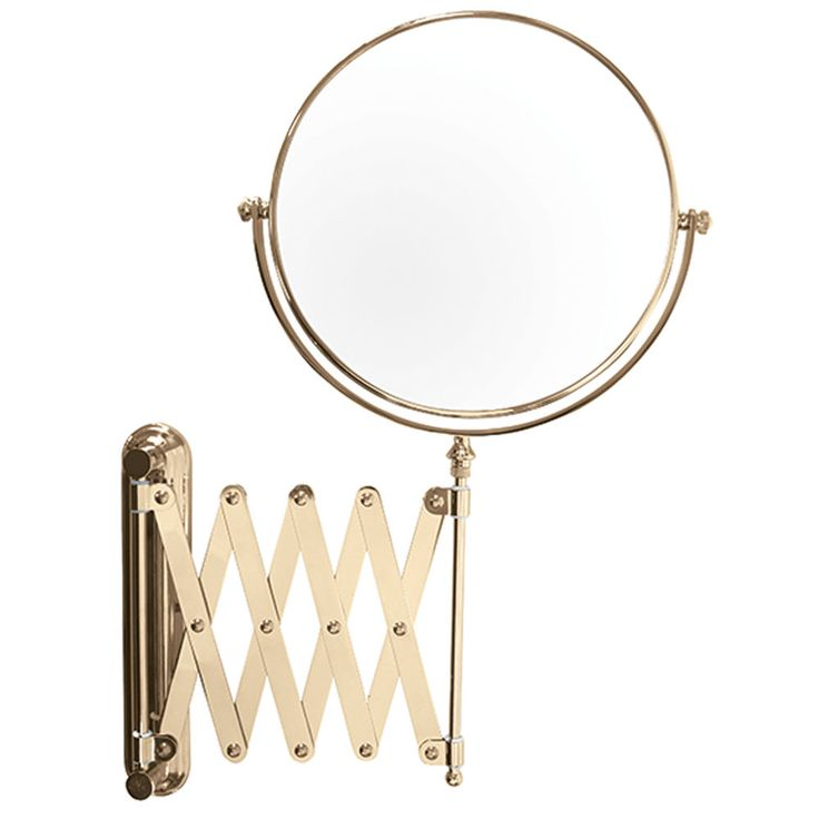 Photographic Gallery Danielle Creations Extending Wall Mounted Gold Plated Mirror X Magnified cm