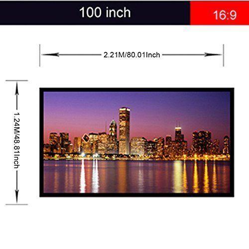 Outdoor Movie Projector Screen 100 inch 16:9 HD Home Theater Cinema Portable NEW #OutdoorMovieProjectorScreen
