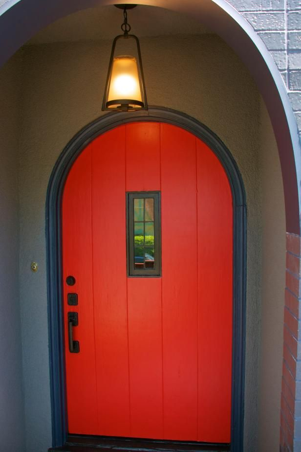 Mocha House Red Door From Frontdoorfreak Sensational Color Combos Doors Front Colors Cottage