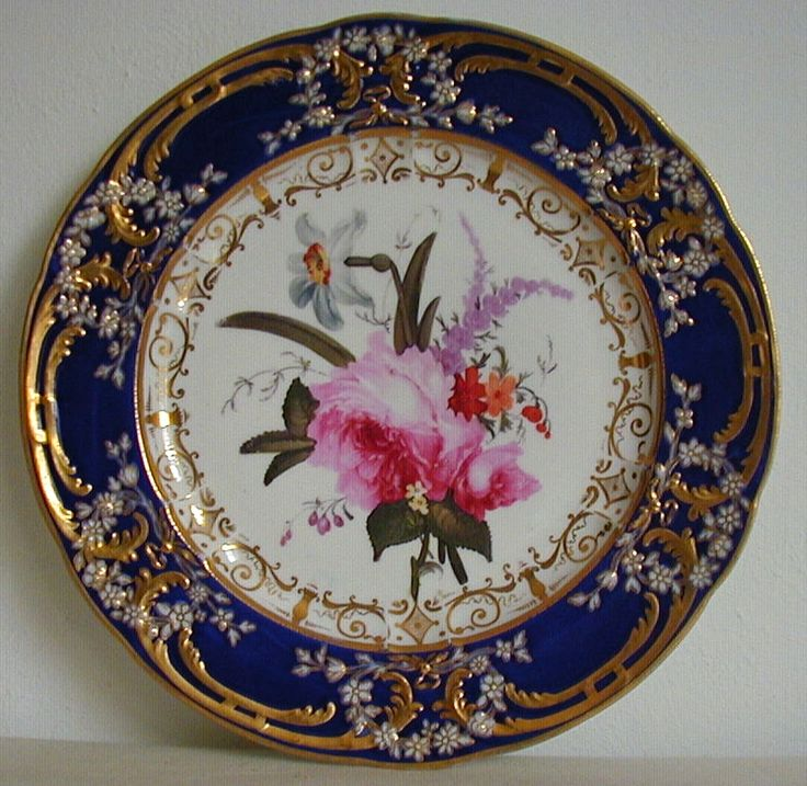 Antique Coalport Porcelain Plate painted by Thomas Brentnall C1820 - For sale on Ruby Lane #RubyLane