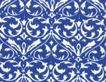 Moda Deb Strain Spa Iron Gate Damask Cobalt   On Hancocks of Paducah