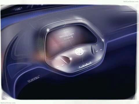 VW ID Steering Wheel Retracted For Autonomous Pilot ID Mode