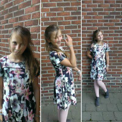 Straightgrain Januu dress voor grote meisjes - in rekbare stof