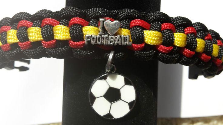 EM Armband Nr2 Fan Fußball Deutschland-Farben UNISEX  Farb -Wunsch Wunsch -Mass