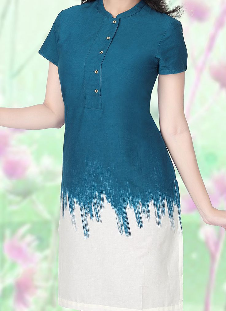 W Blue Cotton Kurti