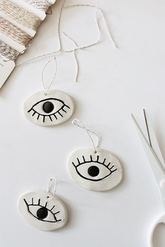 diy eye ornaments (lovely website by the way)