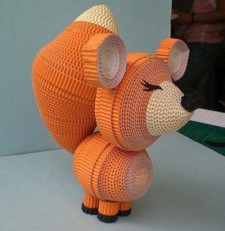 Image result for Paper Quilling Animals 3D
