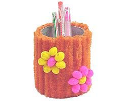 Poofy Pencil Holder