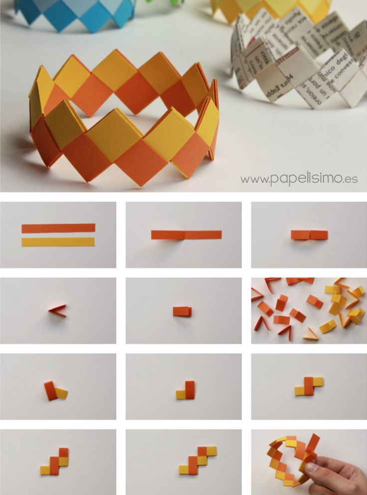 Cómo hacer pulseras de papel | http://papelisimo.es/como-hacer-pulseras-de-papel/