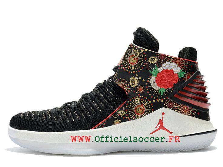 7511c852cb 2018 Air-Jordan-32-CNY-Chaussures Nike Jordan Pour Homme Noir-Université-Rouge-Blanc-Métallique-Or  AJ6331-042 | http://www.goodpublic.fr/ | Air jordans, ...
