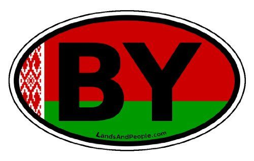 Belarus BY Belarussian Flag Car Bumper Sticker Decal Oval *** More info could be found at the image url.Note:It is affiliate link to Amazon.