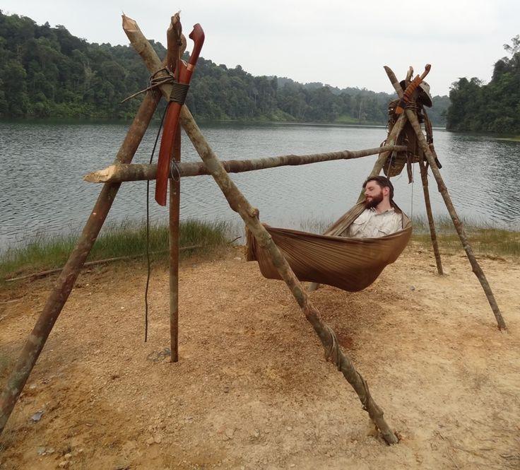 Treeless Shore Side Hammocking... Checkout our hammocks here... http://www.osograndeknives.com/store/catalog/hammocks-tents-and-shelters-412-1.html