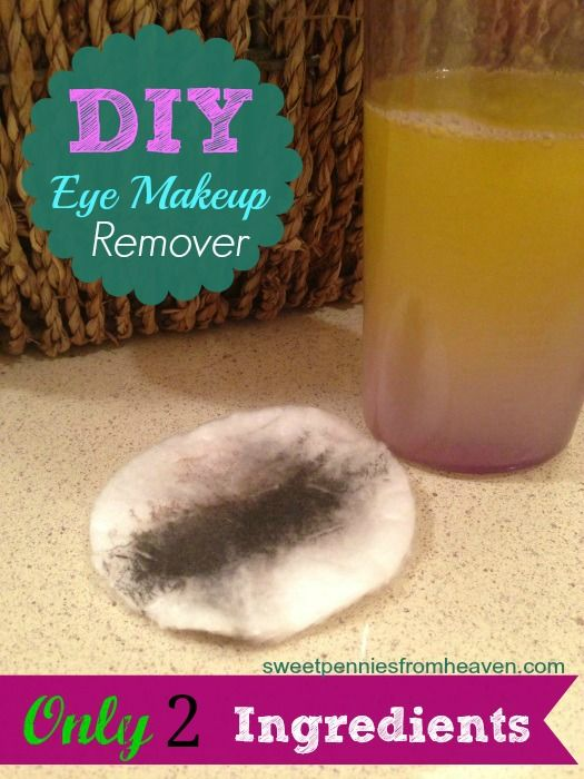 Quit spending a fortune for your eye makeup remover. THIS recipe only calls for 2 ingredients, and it's SUPER DUPER cheap to make. Only costs about $0.96 for a bottle (my other stuff was $14 a bottle) so it's a HUGE savings!! It cleans your eye makeup off clean as a whistle too! Even WATERPROOF mascara!