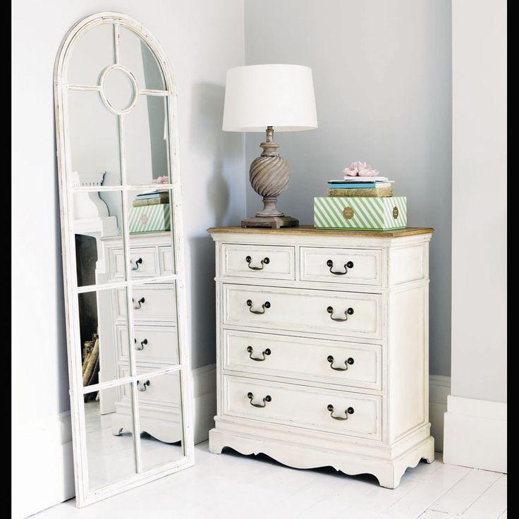 Specchio color avorio in metallo h 180 cm shabby bedroom pinterest maison du monde - Specchio shabby maison du monde ...