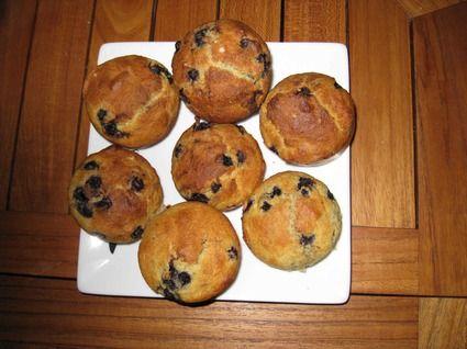 Muffins aux myrtilles et à la semoule de maïs