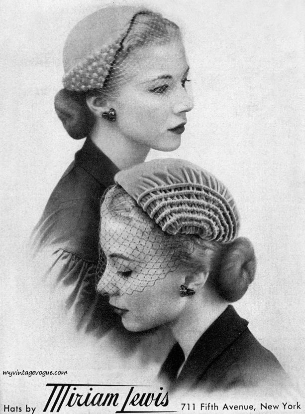 Hats by Miriam Lewis, 1951