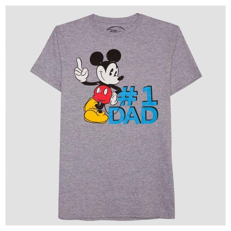 Men's B&t Mickey #1 Dad Big & Tall T-Shirt - Heather Gray Xxxlt