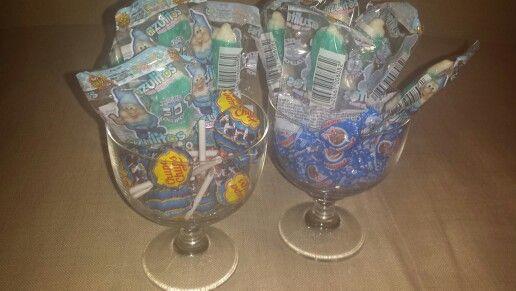 Candy chupachups pitufos blue azul party fiesta