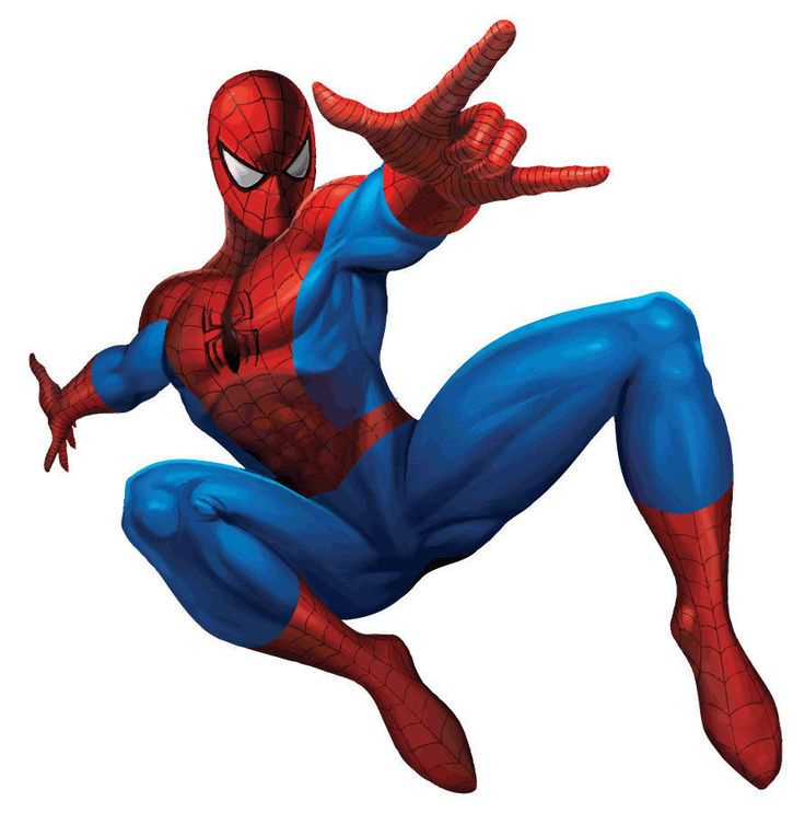Spiderman Action Pose Wall Sticker - Removable