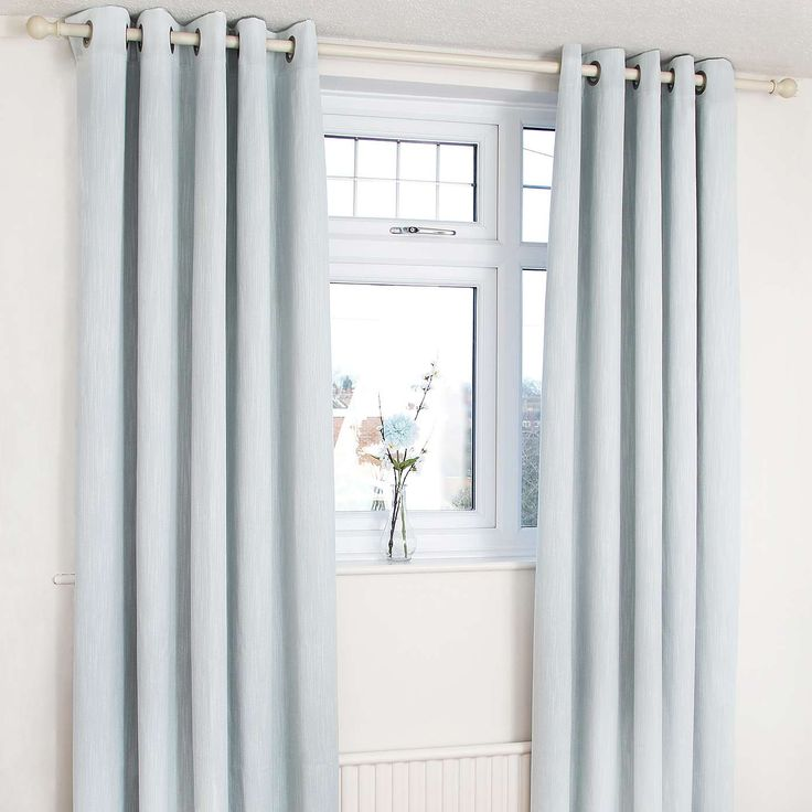 Duck Egg Orion Blackout Eyelet Curtains Dunelm Country