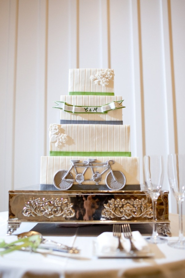 Love the tandem bike on this cake! Photography By / http://larissacleveland.com, Wedding Planning By / http://helpmegethitched.blogspot.com