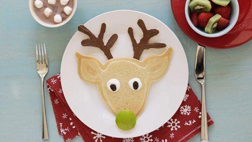 Santa's Reindeer Christmas Pancake