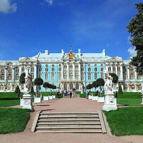 The Catherine Palace is the the summer residence of the Russian tsars. Tsarskoe Selo, Saint Petersburg, Russia.