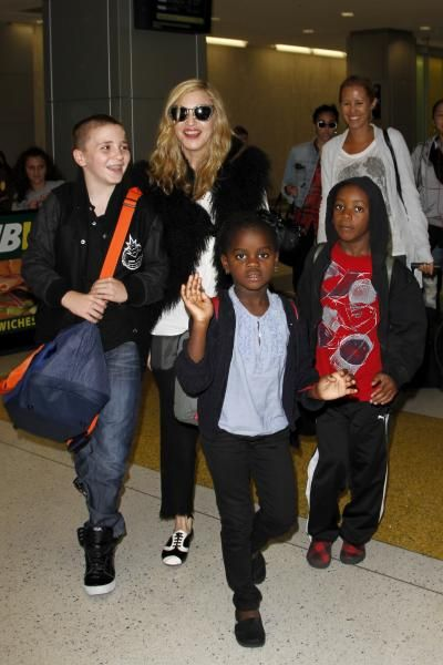 Madonna with two biological children, Loudes and Rocco Ritchie and two adopted children, David Banda and Mercy form Malawi.