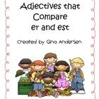 This packet includes engagement activities to build on student's understanding with adjectives that compare-er and est.  It includes engagement str...