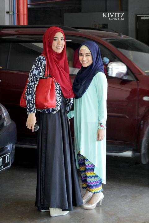 Fitri Aulia & Mimi Alysa  #hijab #hijabfashion