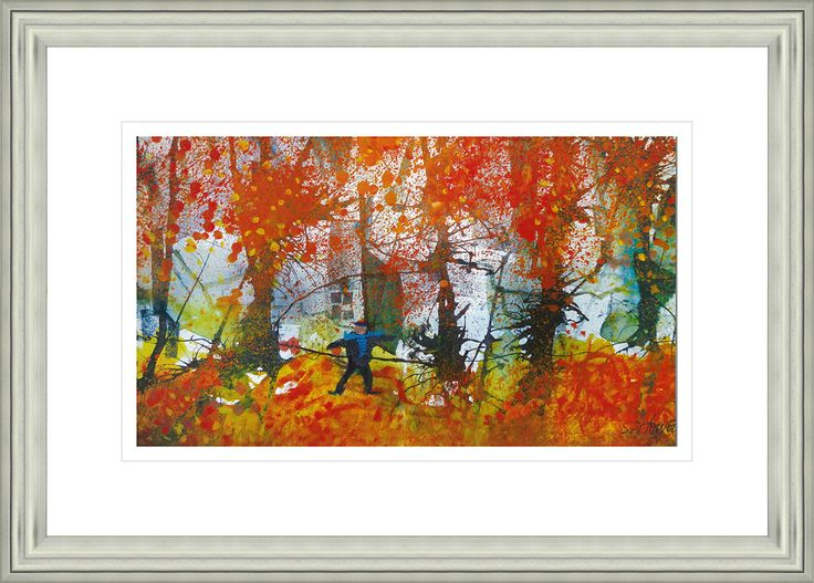 'Autumn Colours' by Sue Howells. High Quality Reproduction Framed Print finished with glass panel & expertly framed by Spires Art framing team. Size: 14in X 18in
