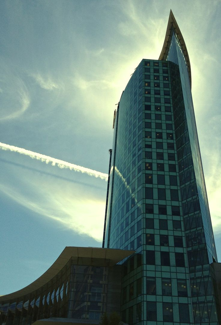 Central City Tower with Vapour Trail Home of Simon Fraser University  Surrey