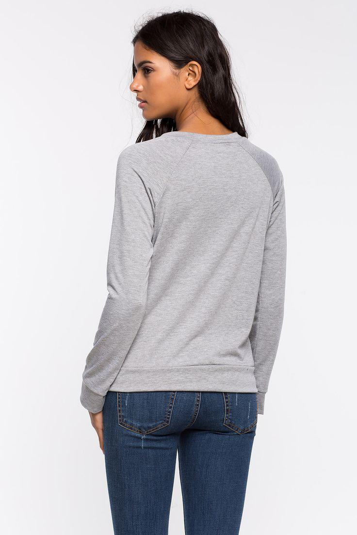 Свитшот Размеры: S, M, L Цвет: серый Цена: 1217 руб.     #одежда #женщинам #свитшоты #коопт