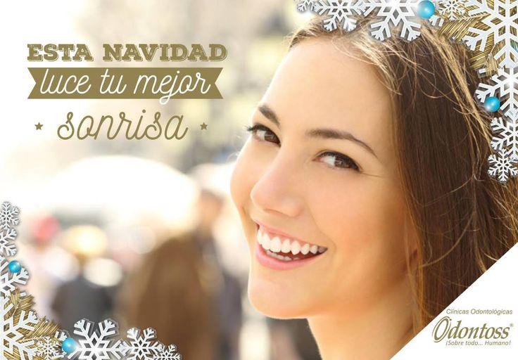Luce una sonrisa perfecta!! Esta navidad te esperamos en Odontoss, recuerda que tu cita de valoración es totalmente gratis. Llámanos 444 00 62 whatsapp: 3122284241.  www.odontoss.com