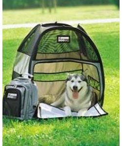 @Overstock.com - Dog tent is an exciting new concept in dog transportation Fabric kennel offers many advantages over the traditional steel cage Integrated sprung steel loops to provide structure and stabilityhttp://www.overstock.com/Pet-Supplies/Pet-Ego-Large-Dog-Tent/3028894/product.html?CID=214117 $13.26