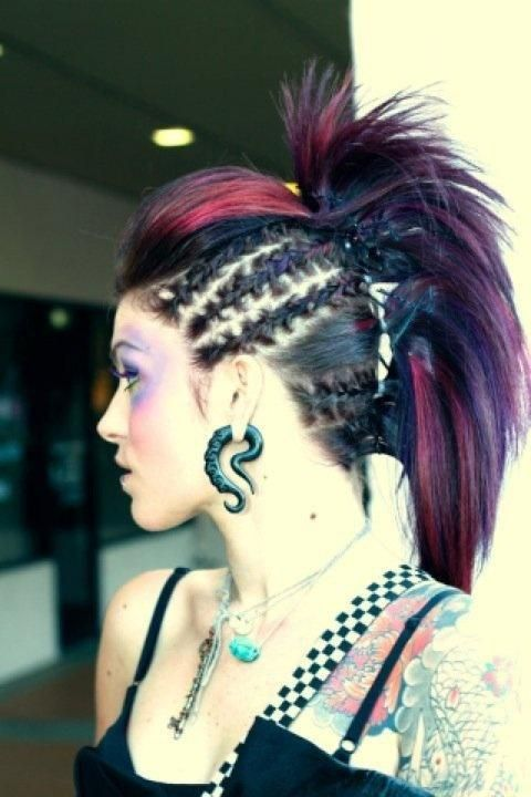 This will be my hair style for when I go into labor. Except not all the color.